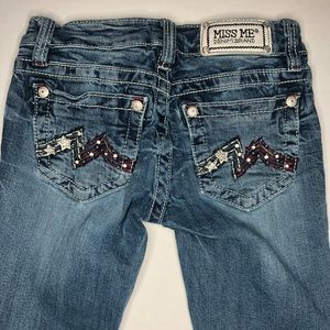 Miss Me Boot Cut Stars and Stripes Jeans